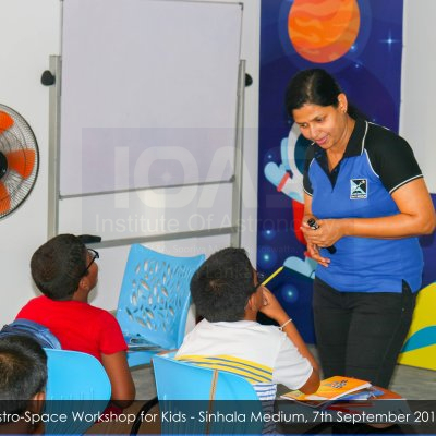 Astro-Space Workshop for Kids - Sinhala Medium (Ages 5 -11) | 23rd Friday, October 2020
